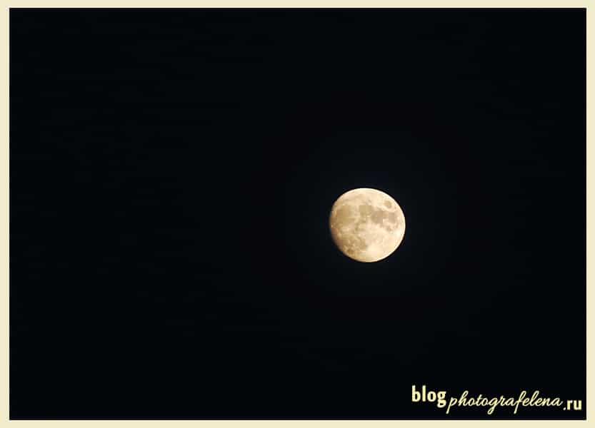 астро фотография луна
