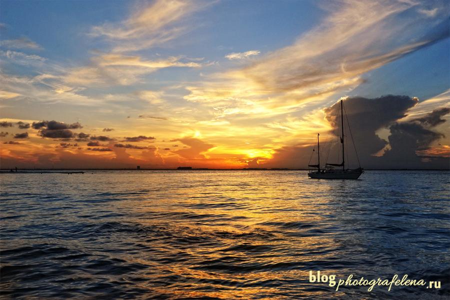 фото заката карибы
