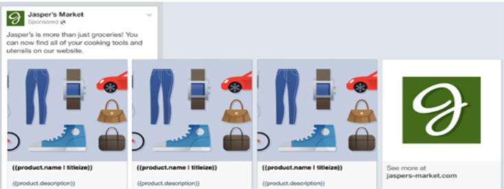 реклама facebook каталог