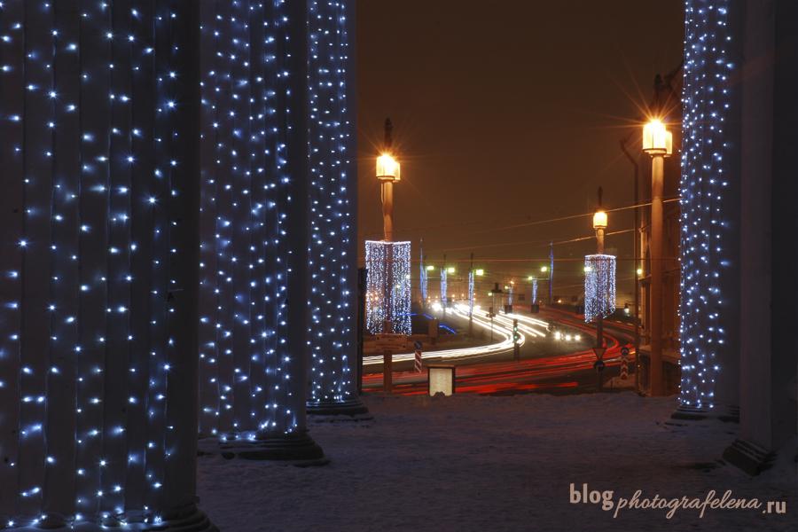 зимний петербург ночь