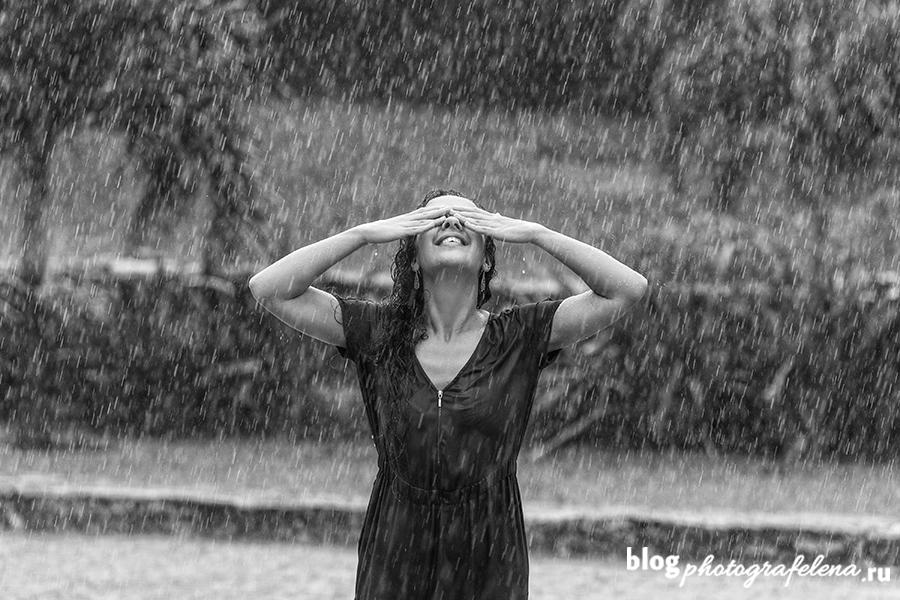 фотосессия под дождем девушки фото идеи