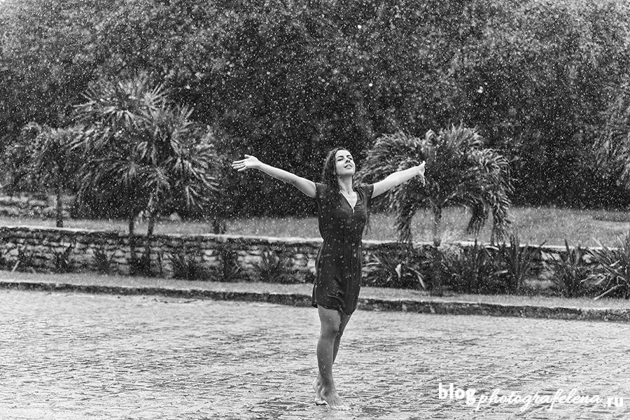 фотосессия под дождем на улице