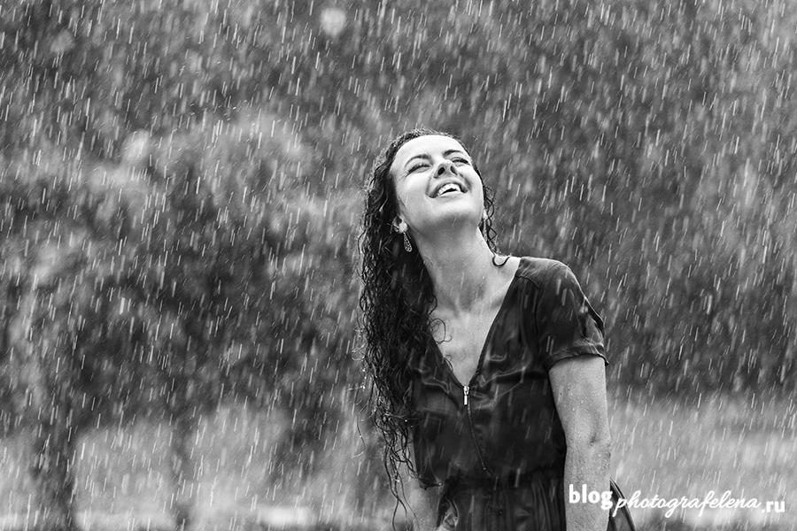 фотосессия под проливным дождем
