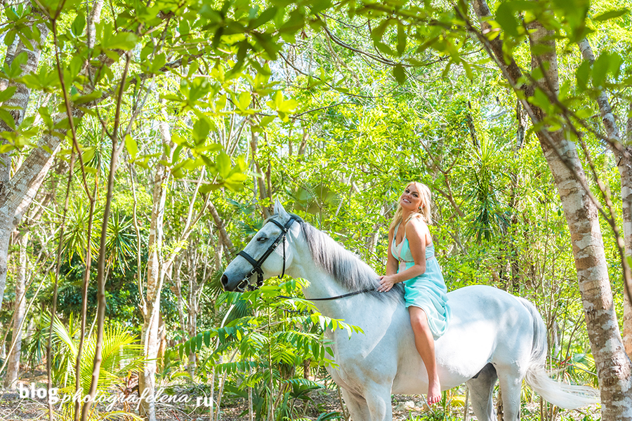 фотосессия с лошадью в платье