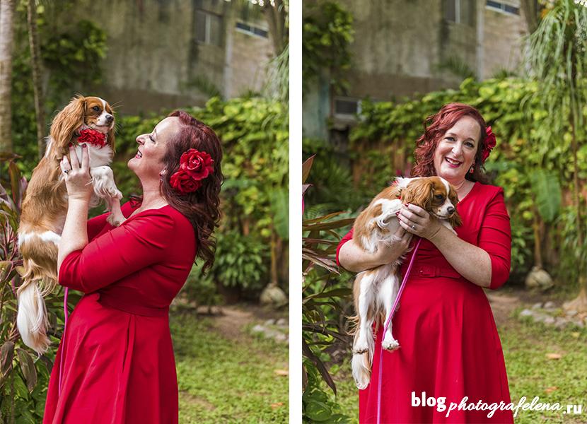 фотосессия со своей собакой