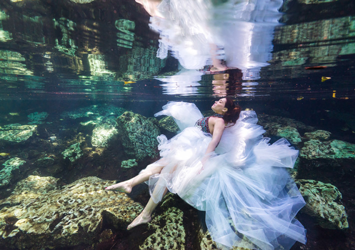 под водой фото