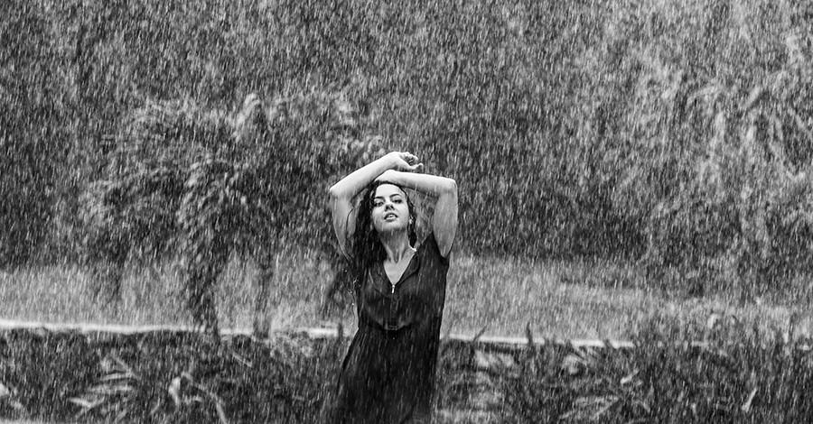 съемка под дождем