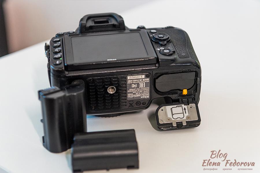 батарейка в фотоаппарате dslr